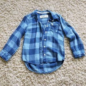 Girls Abercrombie kids flannel shirt